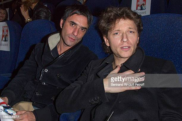 Director and actor Samuel Benchetrit and singer Raphael attend the'Comme Des Freres' Premiere at Cinema Gaumont Opera on November 15 2012 in Paris...