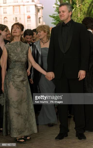 Director and actor Tim Robbins and his wife actress Susan Sarandon arrive at the Palais des Festivals for the premiere of their film 'Cradle Will...