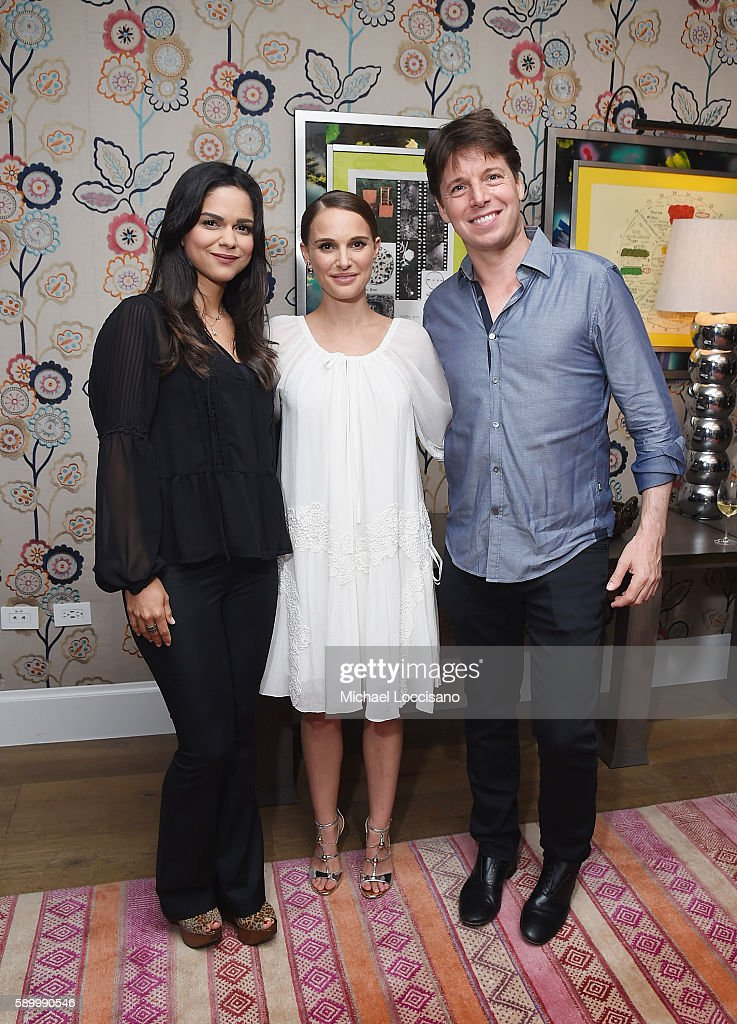Director and actress Natalie Portman (C), violinist Joshua Bell, and opera singer Larisa Martinez attend the after party for the New York premiere of 'A Tale Of Love & Darkness' at Crosby Street Hotel on August 15, 2016 in New York City.