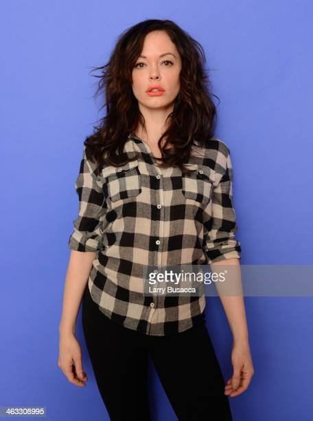 Director and actress Rose McGowan poses for a portrait during the 2014 Sundance Film Festival at the Getty Images Portrait Studio at the Village At...