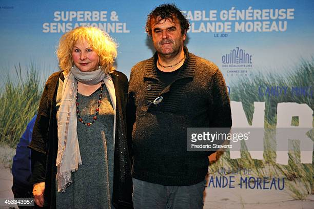 Director and Actress Yolande Moreau and Actor Pippo Delbono attend the 'Henri' Paris premiere at UGC Cine Cite des Halles on December 3 2013 in Paris...