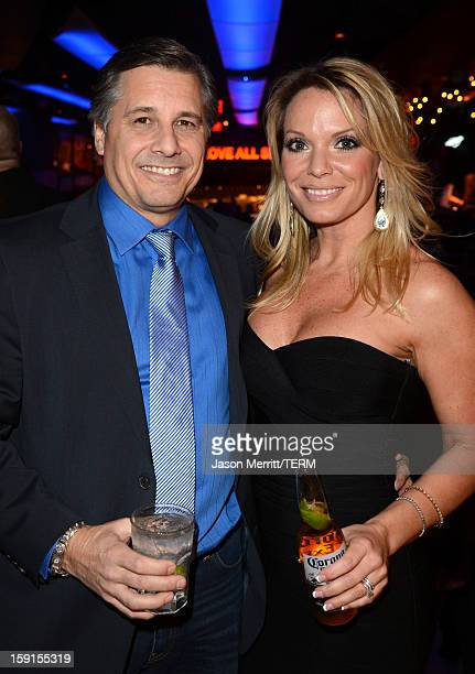 Director and Celebrity Photographer Kevin Mazur and Jennifer Mazur attend the after party for the premiere of '$ellebrity' at the Hard Rock Cafe on...
