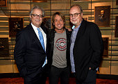 Director and CEO of the Country Music Hall of Fame and Museum Kyle Young Keith Urban and UMG Nashville Chairman and CEO Mike Dungan attend the debut...
