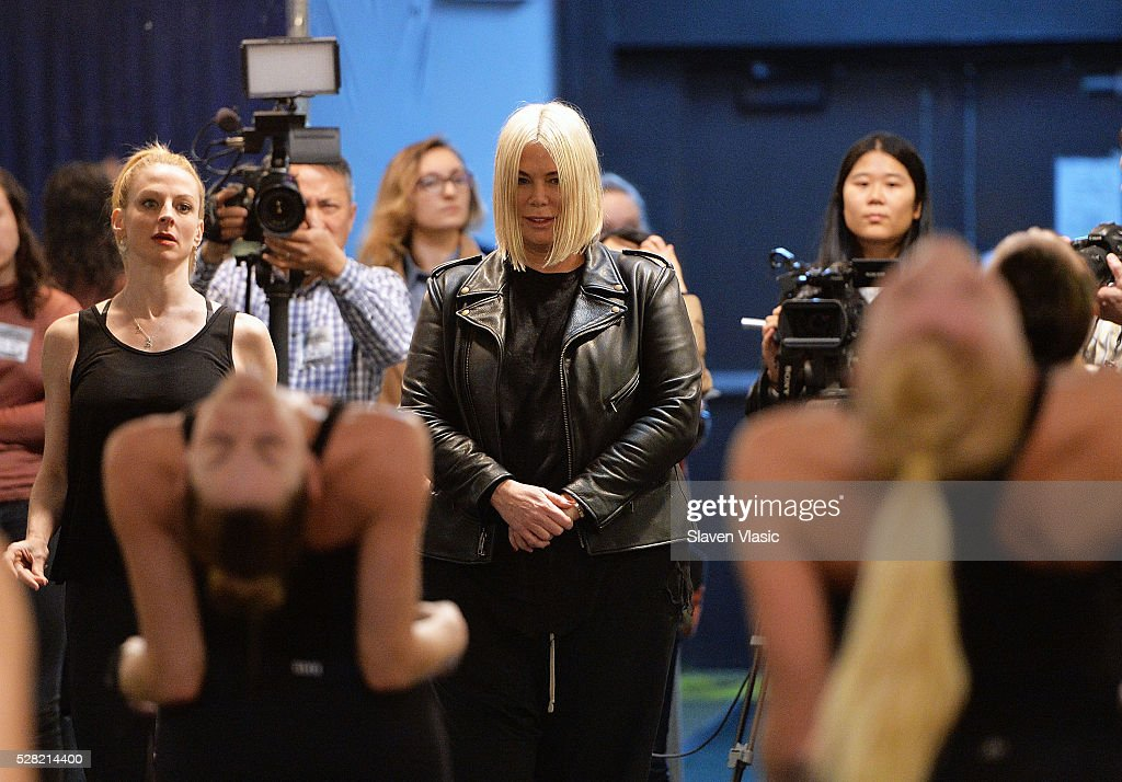 Director and Choreographer of The New York Spectacular <a gi-track='captionPersonalityLinkClicked' href=/galleries/search?phrase=Mia+Michaels&family=editorial&specificpeople=4358945 ng-click='$event.stopPropagation()'>Mia Michaels</a> (C) attends The Radio City Rockettes rehearsal for New York Spectacular at St. Paul The Apostle Church on May 4, 2016 in New York City.
