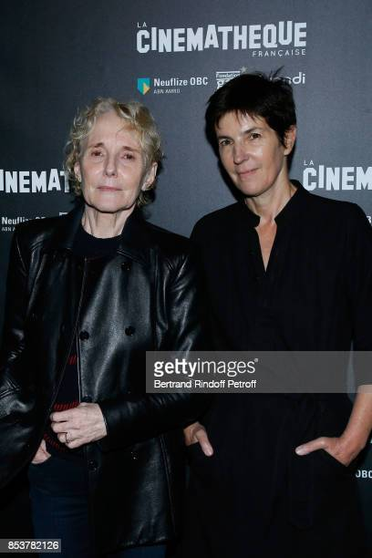 Director and coscriptwriter of the movie Claire Denis and coscriptwriter of the movie Christine Angot attend the 'Un beau soleil interieur' Paris...
