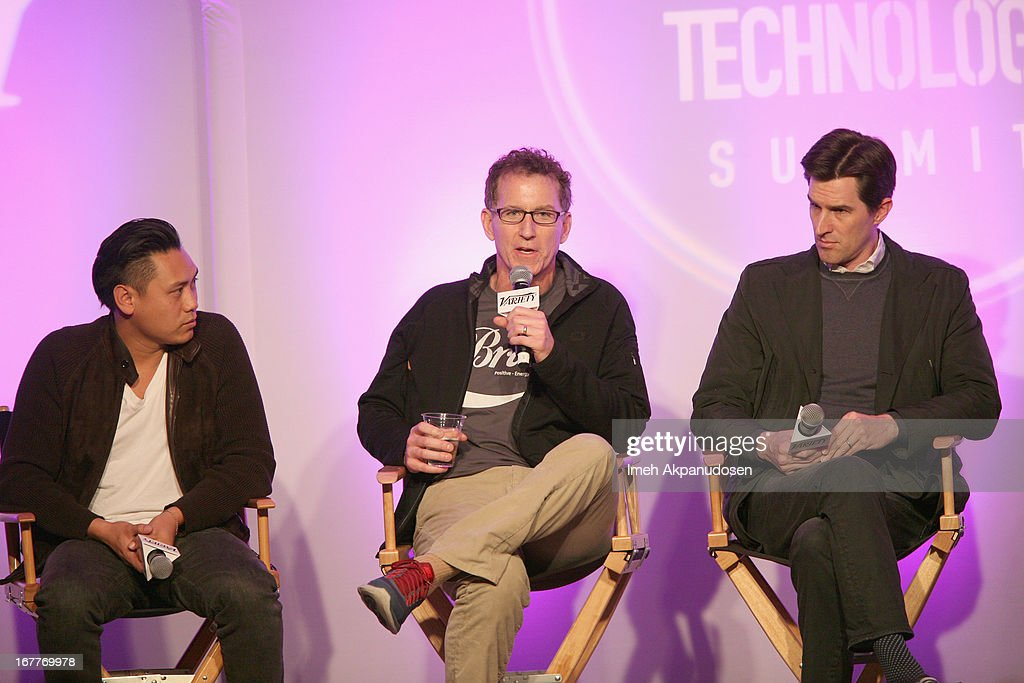 Director and Creator of DS2S10 on YouTube Jon M. Chu, Creator of Tosh.0 Mike Gibbons and Director <a gi-track='captionPersonalityLinkClicked' href=/galleries/search?phrase=Joseph+Kosinski&family=editorial&specificpeople=7113921 ng-click='$event.stopPropagation()'>Joseph Kosinski</a> speak onstage at Variety's Spring 2013 Entertainment and Technology Summit Co-Produced with Digital Hollywood at Ritz Carlton Marina Del Rey on April 29, 2013 in Marina del Rey, California.