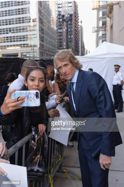Director and Executive Producer Michael Bay attends the US premiere of 'Transformers The Last Knight' at the Civic Opera House on June 20 2017 in...