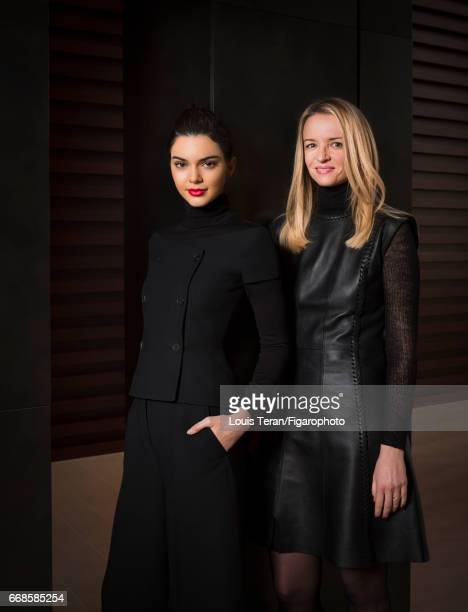 Director and executive Vice President of Louis Vuitton Delphine Arnault and model Kendall Jenner are photographed for Madame Figaro on March 2 2017...
