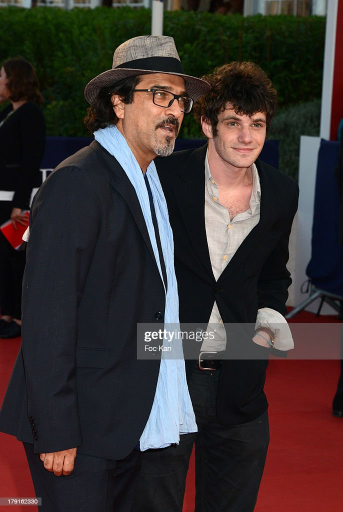 A director and Felix Moati (R) attend the 'Blue Jasmine' Premiere at the 39th Deauville Film Festival at the CID on August 31, 2013 in Deauville, France.
