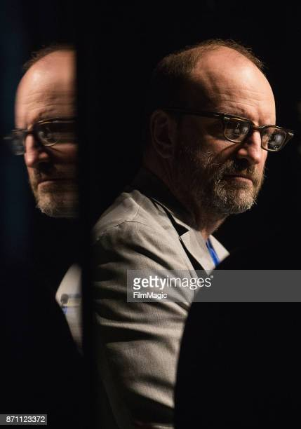Director and Filmmaker Steven Soderbergh speaks during an exclusive first look at interactive storytelling APP Mosaic from HBO and PODOP on November...