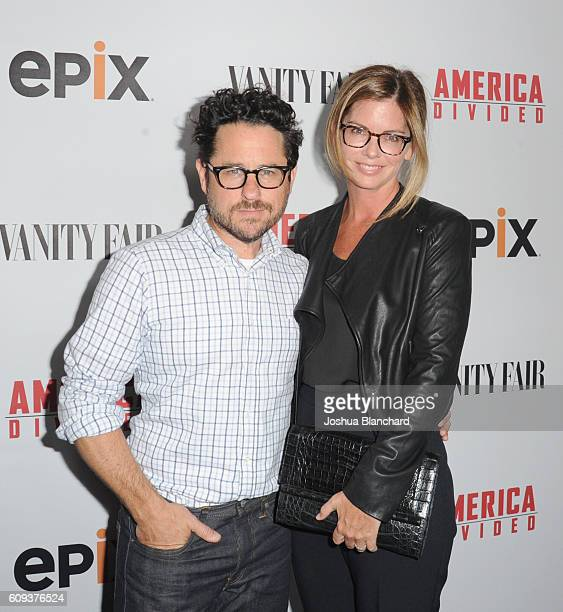 Director and host committee member JJ Abrams and host committee member Katie McGrath attend EPIX 'America Divided' LA Premiere at Billy Wilder...