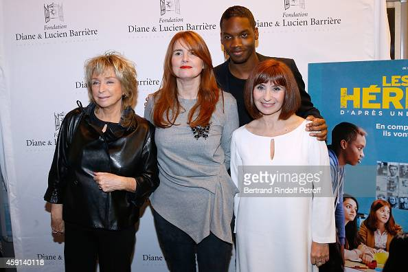 Director and president of the Jury Daniele Thompson Director of the movie MarieCastille MentionSchaar actors Ahmed Drame and Ariane Ascaride attend...