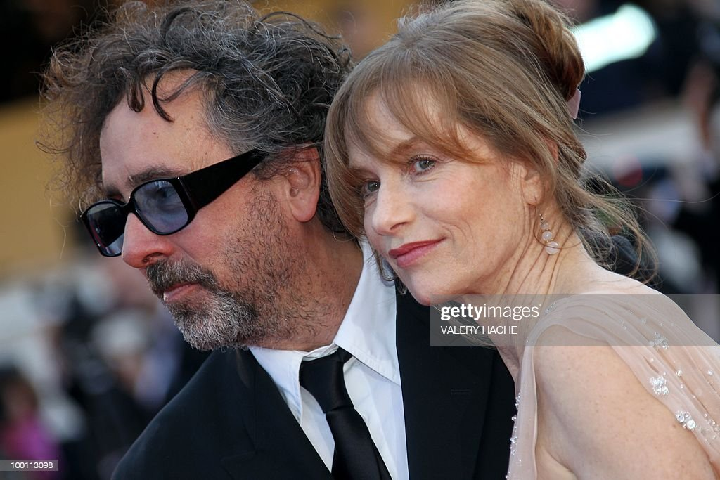 US director and president of the jury Tim Burton and French actress Isabelle Huppert arrive for the screening of 'Biutiful' presented in competition at the 63rd Cannes Film Festival on May 17, 2010 in Cannes.