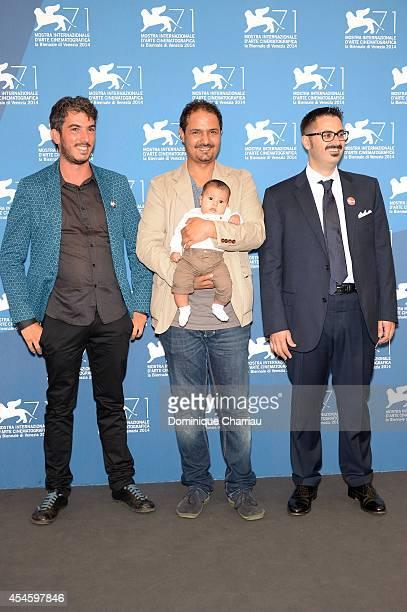 Director and producer Gabriele Del Grande director and producer Khaled Soliman and director and producer Antonio Augugliaro attend the 'Io Sto Con La...