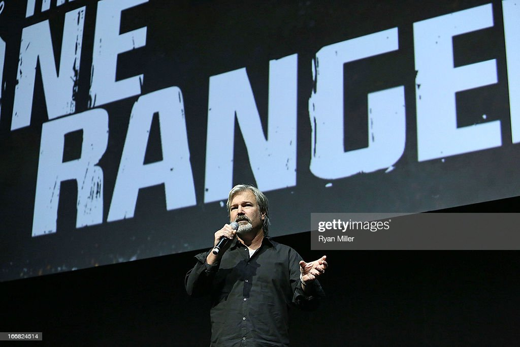 Director and producer <a gi-track='captionPersonalityLinkClicked' href=/galleries/search?phrase=Gore+Verbinski&family=editorial&specificpeople=538751 ng-click='$event.stopPropagation()'>Gore Verbinski</a> speaks onstage during The Walt Disney Studios Invites You to an Exclusive Presentation Highlighting the Summer of 2013 - Including a Special Screening of Disney-Pixar's 'Monsters University' at Caesars Palace during CinemaCon, the official convention of the National Association of Theatre Owners on April 17, 2013 in Las Vegas, Nevada.