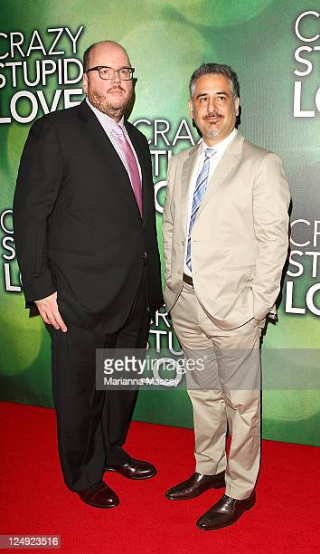 Director and producer John Recqua and Glenn Ficarra arrive at the Sydney premiere of 'Crazy Stupid Love' at Event Cinemas on September 14 2011 in...