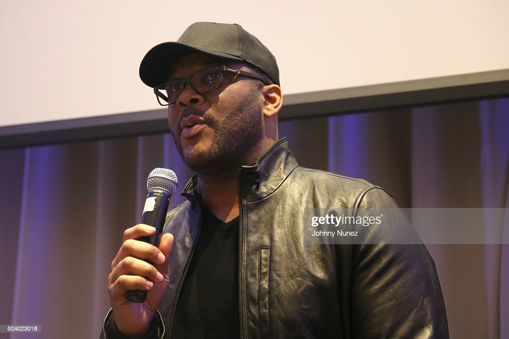 Director and Producer Tyler Perry speaks onstage during the OWN Press Lunch with Tyler Perry and the casts of 'The Haves and the Have Nots' and 'Love Thy Neighbor' on January 8, 2016 in New York City.