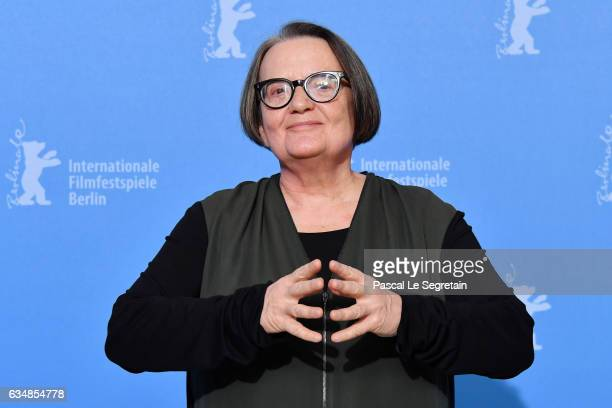 Director and screenwriter Agnieszka Holland attends the 'Spoor' photo call during the 67th Berlinale International Film Festival Berlin at Grand...