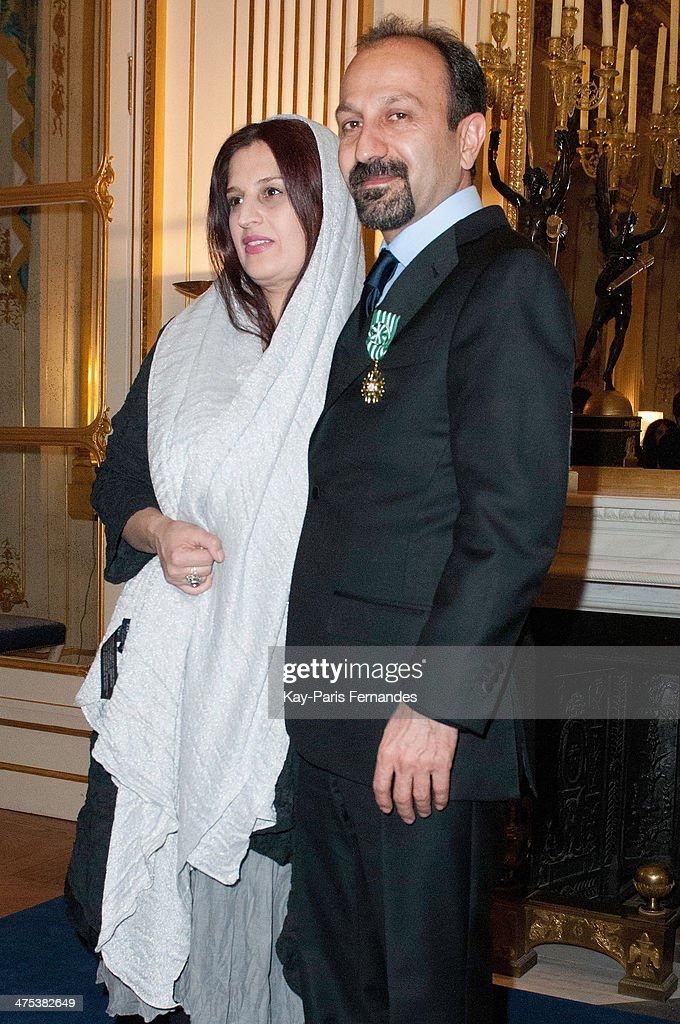 Director and screenwriter <a gi-track='captionPersonalityLinkClicked' href=/galleries/search?phrase=Asghar+Farhadi&family=editorial&specificpeople=5700577 ng-click='$event.stopPropagation()'>Asghar Farhadi</a> with his wife Director Parisa Bakhtavar at the Ministere de la Culture on February 27, 2014 in Paris, France.