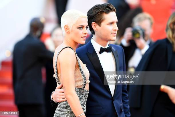 Director and screenwriter Kristen Stewart and actor Josh Kaye attend the '120 Beats Per Minute ' screening during the 70th annual Cannes Film...
