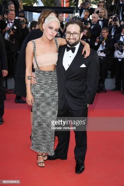 Director and screenwriter Kristen Stewart and David Ethan Shapiro attend the '120 Beats Per Minute ' screening during the 70th annual Cannes Film...
