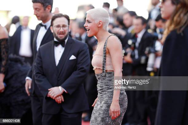 Director and screenwriter Kristen Stewart attends the '120 Beats Per Minute ' screening during the 70th annual Cannes Film Festival at Palais des...