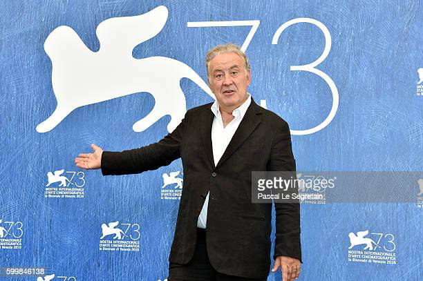 Director and screenwriter Michele Santoro attends the premiere of 'Robinu' during the 73rd Venice Film Festival at Sala Giardino on September 7 2016...
