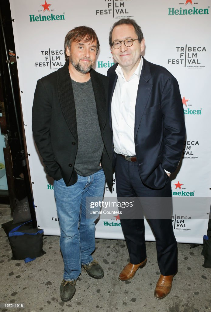 Director and screenwriter Richard Linklater (L) and Michael Barker attend the Tribeca Film Festival 2013 After Party 'Before Midnight' sponsored by Heineken on April 22, 2013 in New York City.