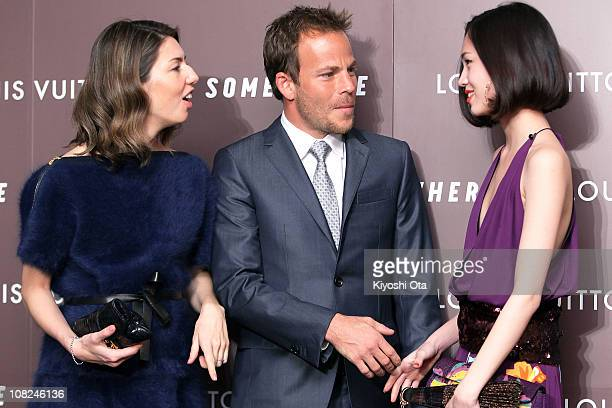 Director and screenwriter Sofia Coppola actor Stephen Dorff and model Kiko Mizuhara attend the 'Somewhere' preview and reception at Louis Vuitton...
