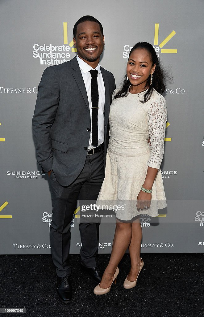Director and Vanguard Award recipient <a gi-track='captionPersonalityLinkClicked' href=/galleries/search?phrase=Ryan+Coogler&family=editorial&specificpeople=7316581 ng-click='$event.stopPropagation()'>Ryan Coogler</a> (L) and Zinzi Evans attend the 2013 'Celebrate Sundance Institute' Los Angeles Benefit hosted by Tiffany & Co. at The Lot on June 5, 2013 in West Hollywood, California.