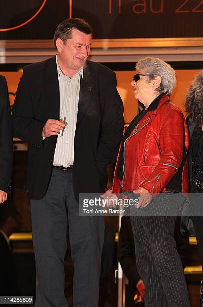 Director and writer Aki Kaurismaki and actor Little Bob attend the 'La Havre' Premiere at the Palais des Festivals during the 64th Cannes Film...