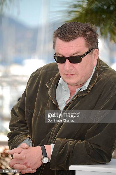 Director and writer Aki Kaurismaki attends the 'La Havre' Photocall at the Palais des Festivals during the 64th Cannes Film Festival on May 17 2011...