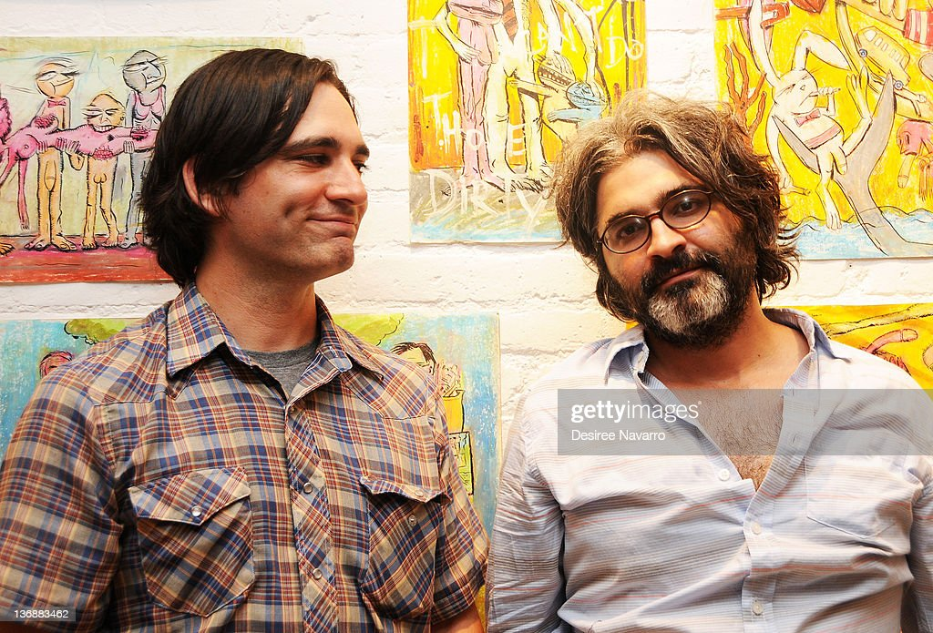 Director and writer Michael Tully and Artist Onur Turkel attend the 'Septien' premiere after party at the Pennington Gallery on July 6 2011 in New...