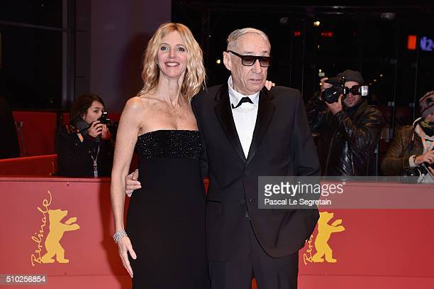 Director Andre Techine and actress Sandrine Kiberlain attend the 'Being 17' premiere during the 66th Berlinale International Film Festival Berlin at...