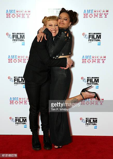 Director Andrea Arnold and actress Sasha Lane attend the 'American Honey' Festival Special Presentation screening during the 60th BFI London Film...