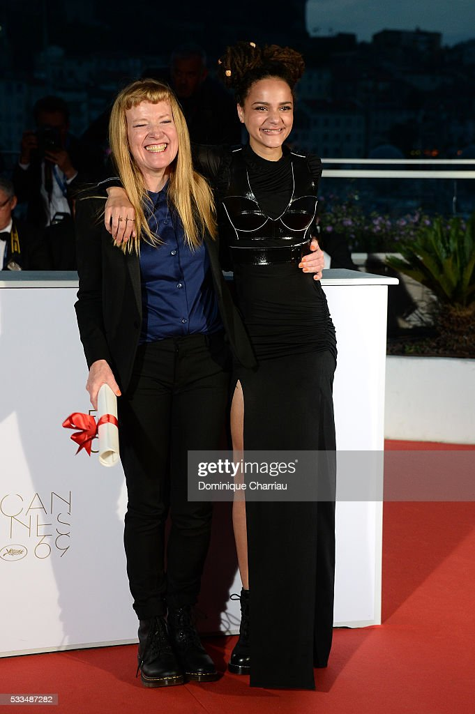 Director <a gi-track='captionPersonalityLinkClicked' href=/galleries/search?phrase=Andrea+Arnold&family=editorial&specificpeople=606927 ng-click='$event.stopPropagation()'>Andrea Arnold</a> celebrates with <a gi-track='captionPersonalityLinkClicked' href=/galleries/search?phrase=Sasha+Lane&family=editorial&specificpeople=15806136 ng-click='$event.stopPropagation()'>Sasha Lane</a> after being awarded the Jury Prize for the film 'American Honey' during the Palme D'Or Winner Photocall during the 69th annual Cannes Film Festival at the Palais des Festivals on May 22, 2016 in Cannes, France.