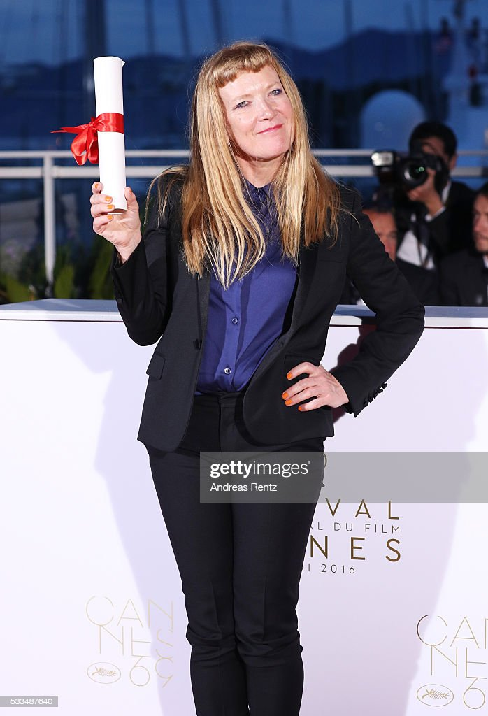 Director <a gi-track='captionPersonalityLinkClicked' href=/galleries/search?phrase=Andrea+Arnold&family=editorial&specificpeople=606927 ng-click='$event.stopPropagation()'>Andrea Arnold</a> poses after being awarded the Jury Prize for the movie 'American Honey' during the Palme D'Or Winner Photocall during the 69th annual Cannes Film Festival at the Palais des Festivals on May 22, 2016 in Cannes, France.