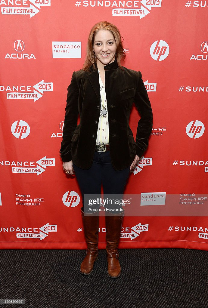 Director Andrea Nix Fine arrives at the 2013 Sundance Film Festival Premiere of 'Life According To Sam' at Temple Theater on January 21, 2013 in Park City, Utah.