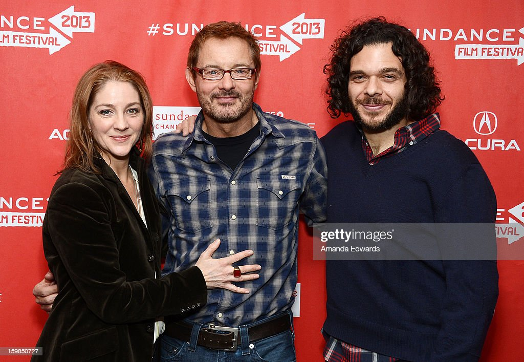 Director Andrea Nix Fine, Sundance Film Festival Senior Programmer David Courier and director Sean Fine arrive at the 2013 Sundance Film Festival Premiere of 'Life According To Sam' at Temple Theater on January 21, 2013 in Park City, Utah.