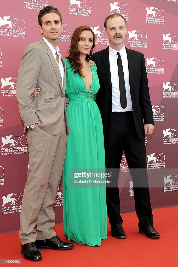 Director Andrea Pallaoro, actors Catalina Sandino Moreno and Brian O'Byrne attend 'Medeas' Photocall during the 70th Venice International Film Festival at Palazzo del Casino on September 2, 2013 in Venice, Italy.