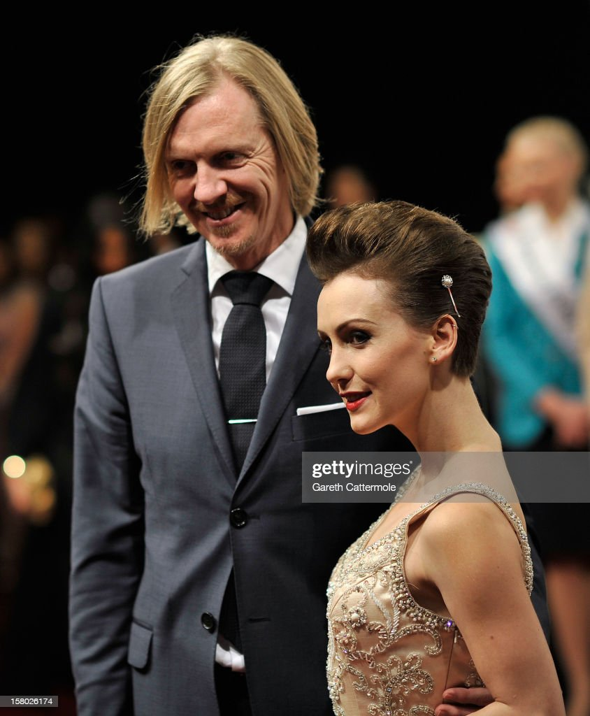 Director Andrew Adamson and actress Erica Linz attend the 'Life of PI' Opening Gala during day one of the 9th Annual Dubai International Film Festival held at the Madinat Jumeriah Complex on December 9, 2012 in Dubai, United Arab Emirates.
