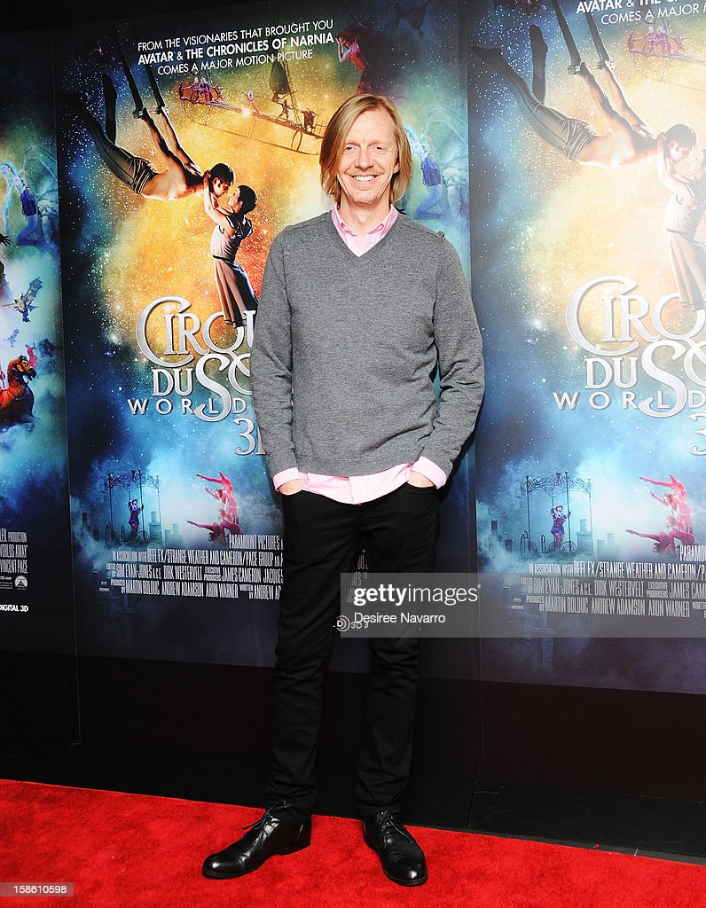 Director <a gi-track='captionPersonalityLinkClicked' href=/galleries/search?phrase=Andrew+Adamson&family=editorial&specificpeople=770048 ng-click='$event.stopPropagation()'>Andrew Adamson</a> attends 'Cirque Du Soleil: Worlds Away' New York Screening at Regal E-Walk on December 20, 2012 in New York City.