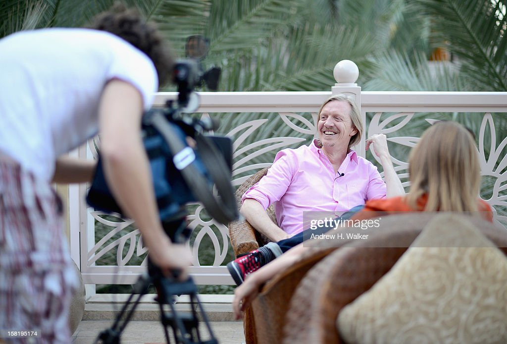 Director Andrew Adamson smiles during an interview on day three of the 9th Annual Dubai International Film Festival held at the Madinat Jumeriah Complex on December 11, 2012 in Dubai, United Arab Emirates.