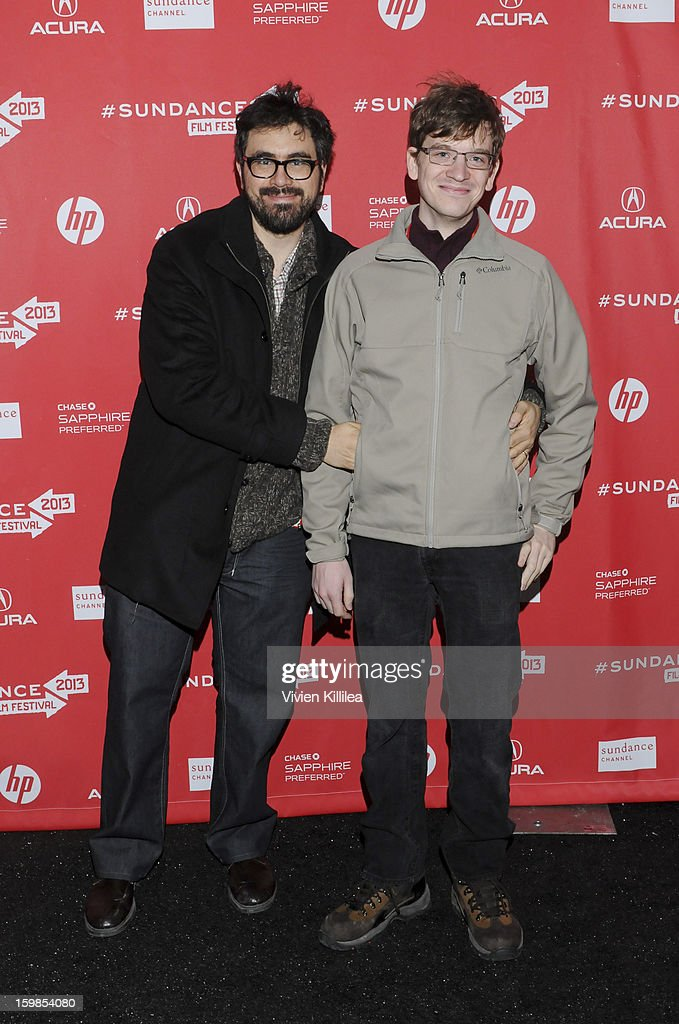 Director Andrew Bujalski and actor Patrick Riester attend 'Computer Chess' Premiere - 2013 Sundance Film Festival at Library Center Theater on January 21, 2013 in Park City, Utah.