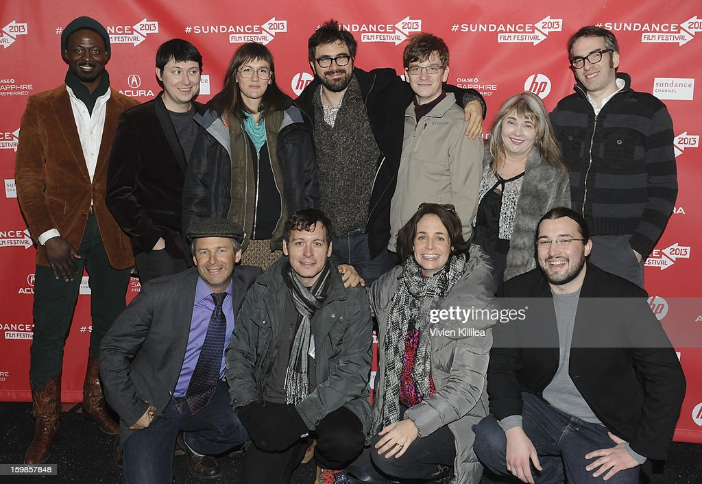 Director Andrew Bujalski and the cast of 'Computer Chess' attend 'Computer Chess' Premiere - 2013 Sundance Film Festival at Library Center Theater on January 21, 2013 in Park City, Utah.