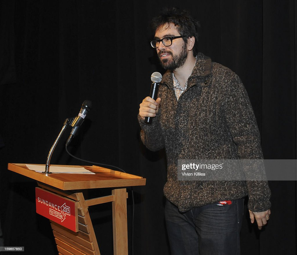 Director Andrew Bujalski speaks at 'Computer Chess' Premiere - 2013 Sundance Film Festival at Library Center Theater on January 21, 2013 in Park City, Utah.