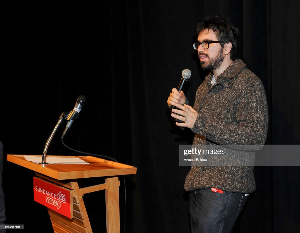 Director Andrew Bujalski speaks at 'Computer Chess' Premiere - 2013 Sundance Film Festival at Library Center Theater on January 21, 2013 in Park City, Utah.