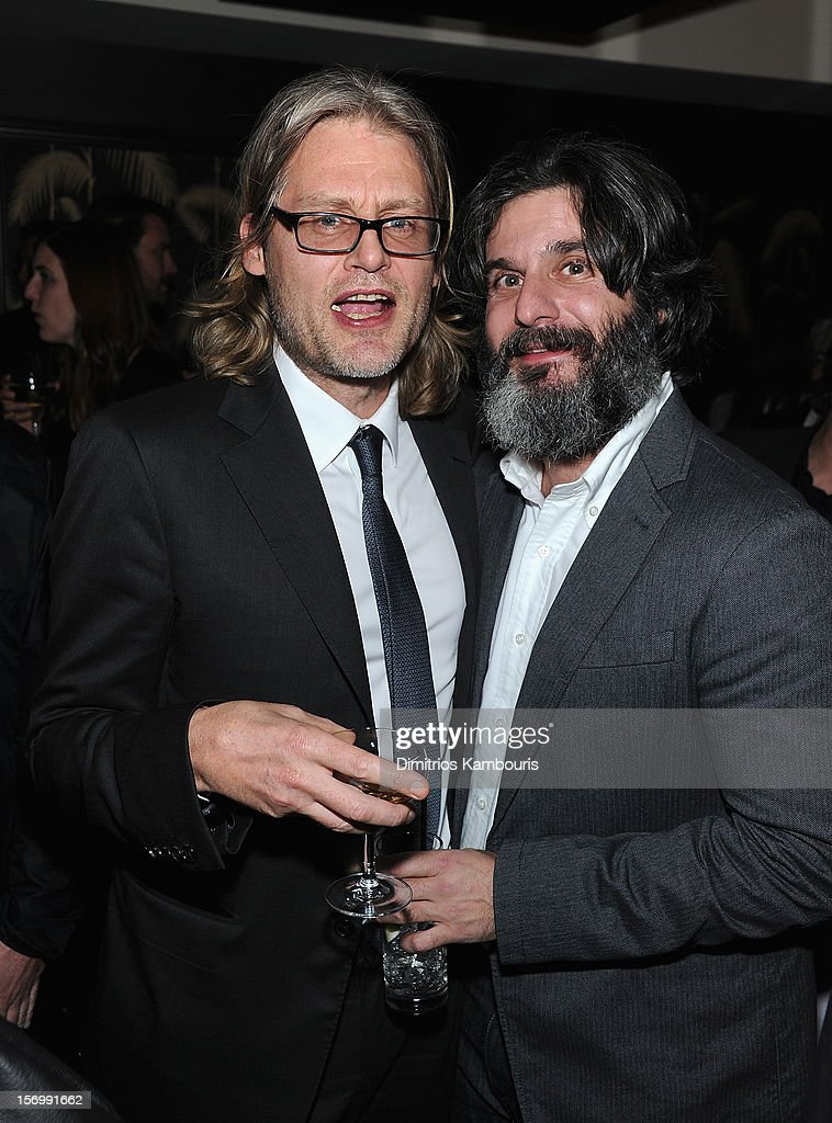 Director Andrew Dominik and producer Anthony Katagas attend The Cinema Society With Men's Health And DeLeon Tequila Host A Screening Of The Weinstein Company's 'Killing Them Softly' After Party on November 26, 2012 in New York City.