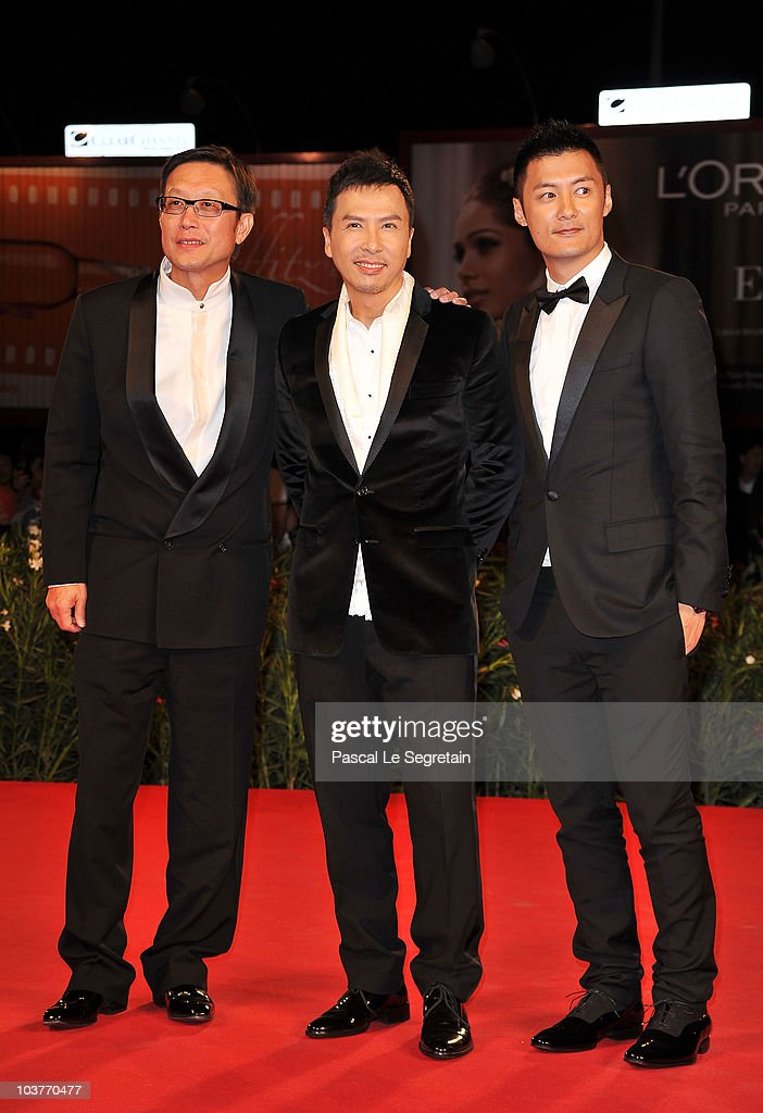Director Andrew Lau actor Donnie Yen and actor Shawn Yue attend 'Legend Of The Fist The Return Of Chen Zhen' premiere during the 67th Venice Film...