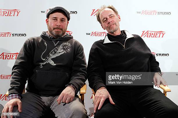 Director Andrew Rossi and David Carr attend the Variety Studio At Sundance on January 24 2011 in Park City Utah